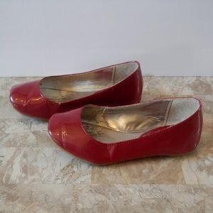 Steve Madden Red Patent Ballerina Flats